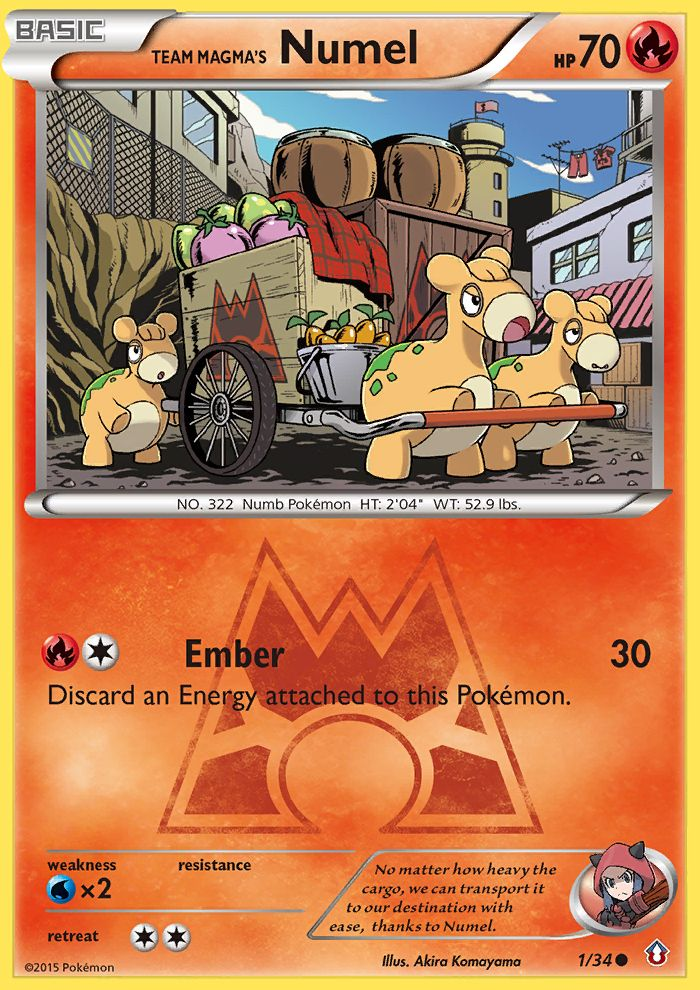 Team Magma's Numel from Double Crisis