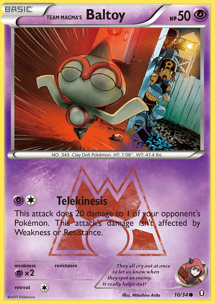 Team Magma's Baltoy from Double Crisis