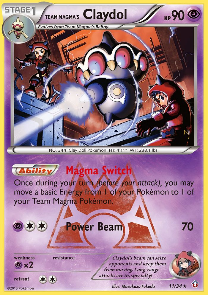 Team Magma's Claydol from Double Crisis