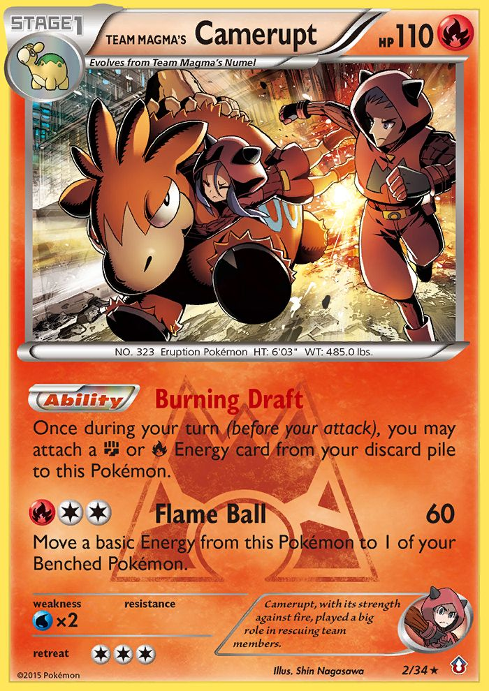 Team Magma's Camerupt from Double Crisis