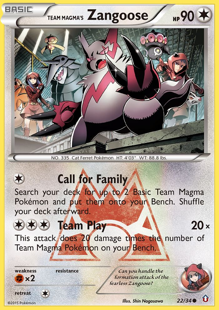 Team Magma's Zangoose from Double Crisis