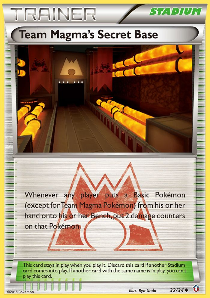 Team Magma's Secret Base from Double Crisis