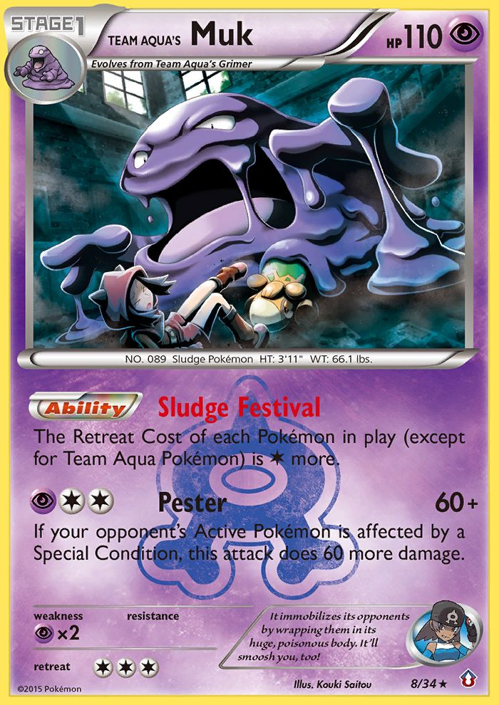 Team Aqua's Muk from Double Crisis