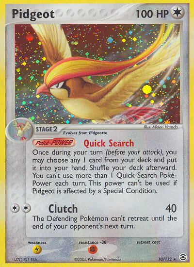 Pidgeot from ex Fire Red - Leaf Green