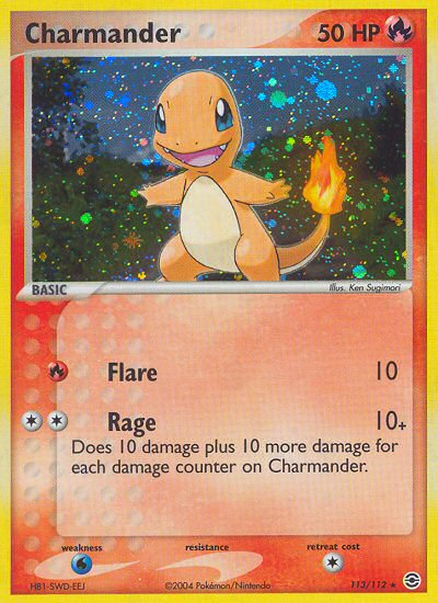 Charmander from ex Fire Red - Leaf Green