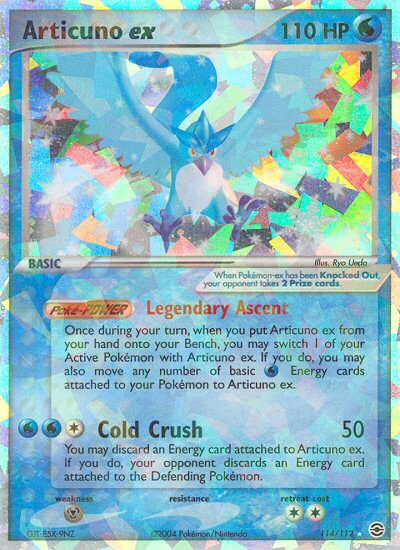 Articuno ex from ex Fire Red - Leaf Green