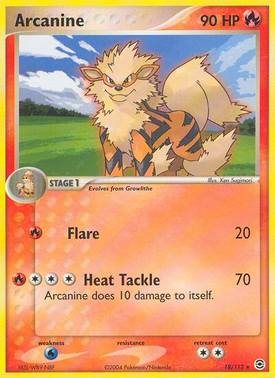 Arcanine from ex Fire Red - Leaf Green