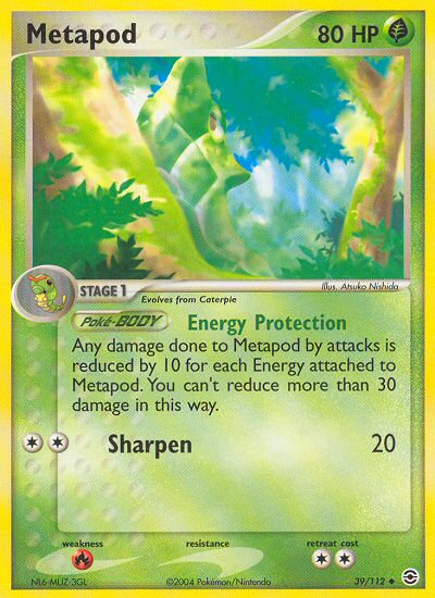Metapod from ex Fire Red - Leaf Green