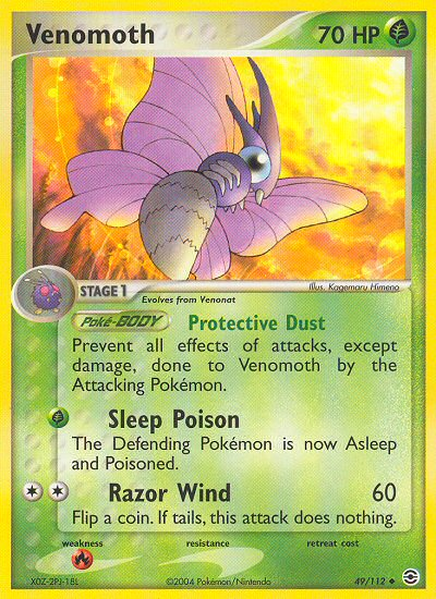 Venomoth from ex Fire Red - Leaf Green
