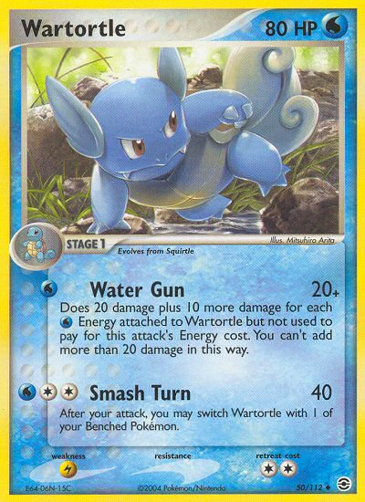 Wartortle from ex Fire Red - Leaf Green