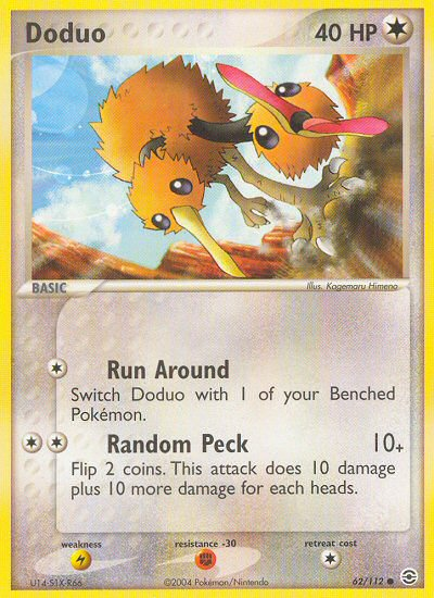 Doduo from ex Fire Red - Leaf Green
