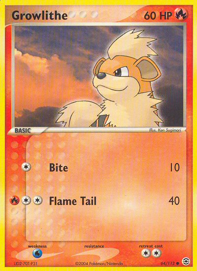 Growlithe from ex Fire Red - Leaf Green