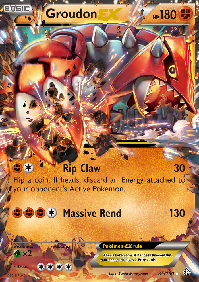 Groudon-EX from Primal Clash
