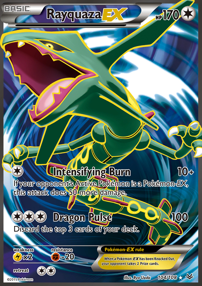 Rayquaza-EX from Roaring Skies
