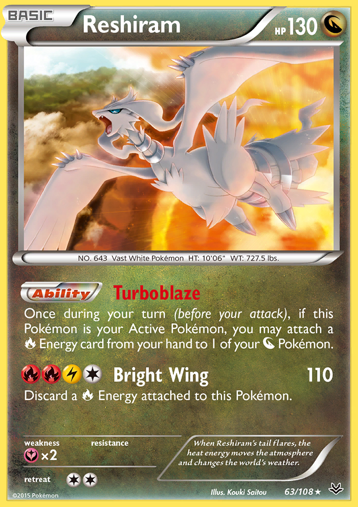 Reshiram from Roaring Skies