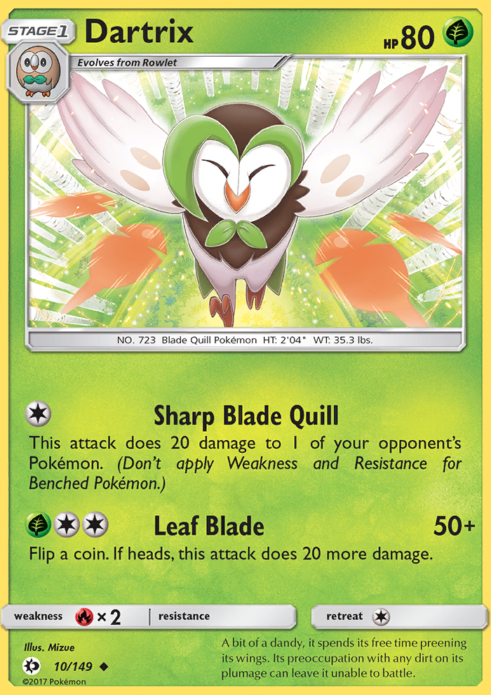 Dartrix from Sun and Moon