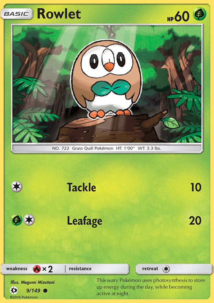 Rowlet from Sun and Moon