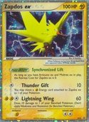 Zapdos ex from ex Promos