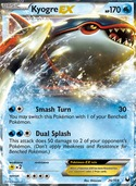 Kyogre-EX from Dark Explorers
