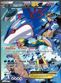 Team Aqua's Kyogre-EX from Double Crisis