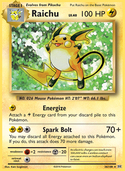 Raichu from Evolutions