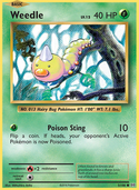 Weedle from Evolutions