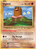 Diglett from Evolutions