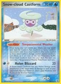 Snow-cloud Castform from ex Delta Species