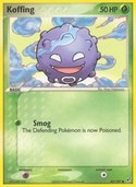 Koffing from ex Deoxys