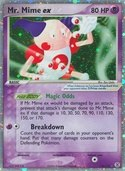 Mr. Mime ex from ex Fire Red - Leaf Green