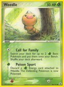 Weedle from ex Fire Red - Leaf Green