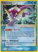 Vaporeon Star from ex Power Keepers
