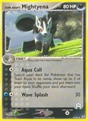 Team Aqua's Mightyena from ex Team Magma vs Aqua