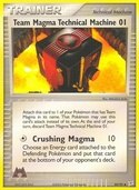 Team Magma Technical Machine 01 from ex Team Magma vs Aqua