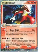 Blaziken ex from ex Team Magma vs Aqua