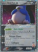 Rocket's Snorlax ex from ex Team Rocket Returns