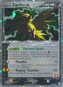 Rocket's Zapdos ex from ex Team Rocket Returns