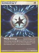 Warp Energy from ex Unseen Forces