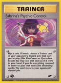 Sabrina's Psychic Control from Gym Challenge