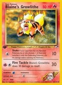 Blaine's Growlithe from Gym Heroes