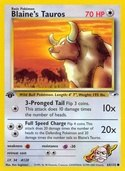 Blaine's Tauros from Gym Heroes