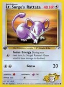 Lt. Surge's Rattata from Gym Heroes