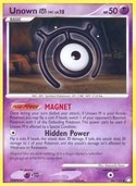 Unown M from Mysterious Treasures