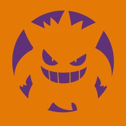 Pumpkin Gengar Stencil from pokemon.com