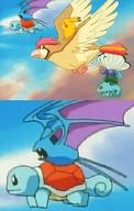 anime anime_error bulbasaur butterfree fly pidgeotto pikachu season_1 squirtle zubat // 640x1010 // 208.9KB