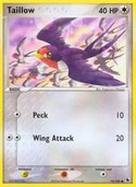 Taillow from ex Ruby Sapphire