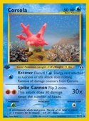 Corsola from Neo Discovery