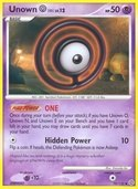 Unown O from Secret Wonders